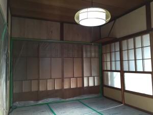和室のベニヤ下地