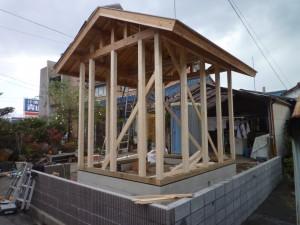 屋根下地も完成です!